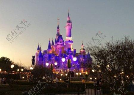 迪士尼夜景图片
