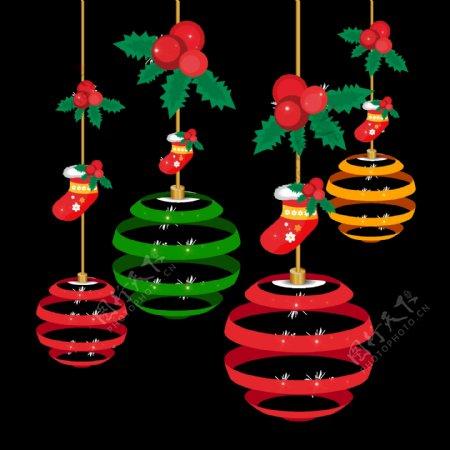 圣诞吊饰装饰素材图片