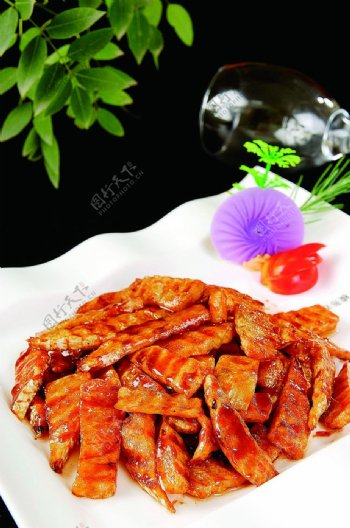 南北热菜烧汁绿竹笋图片