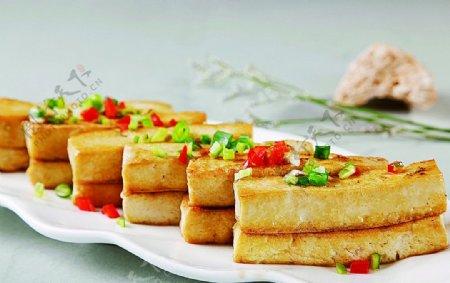 淮扬菜私房煎豆腐图片