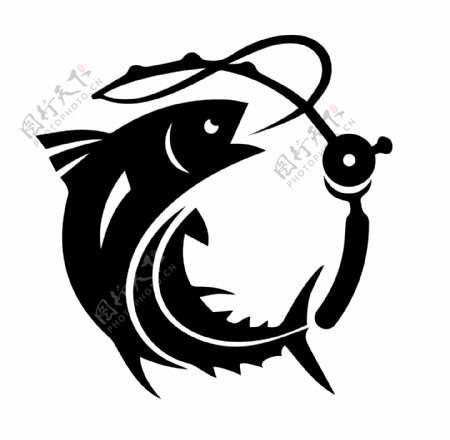鱼竿钓鱼logo图标icon图片