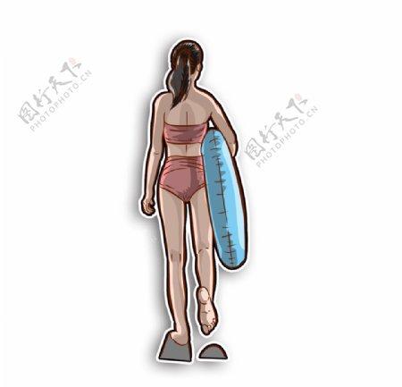 游泳沙滩大海夏天夏至盛夏冲浪玩图片