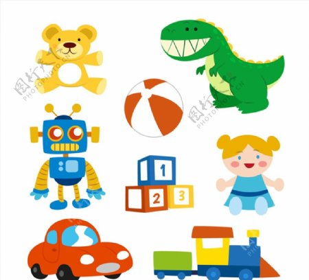 可爱儿童玩具图片