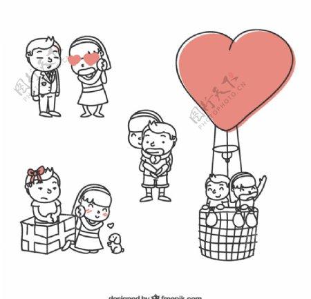 可爱情侣设计图片