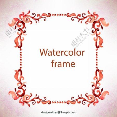 水彩花卉边框图片
