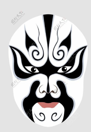 脸谱传统文化复古背景素材图片