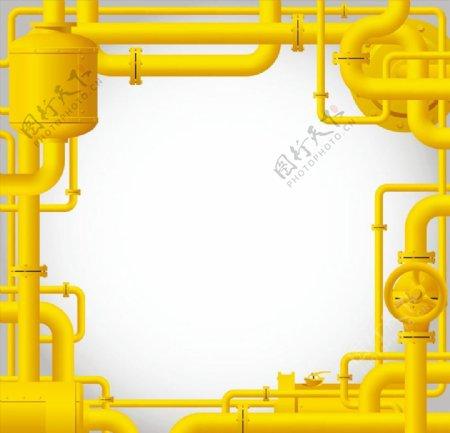黄色管道矢量图片