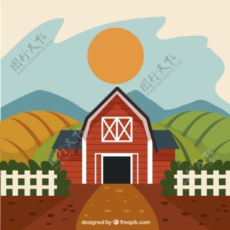 农场庄园风景图片