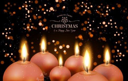 圣诞圆形蜡烛图片