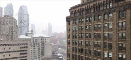 下雪的城市
