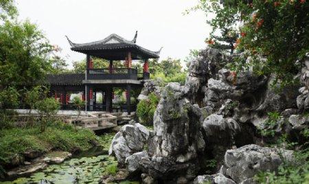 苏州园林亭子图片