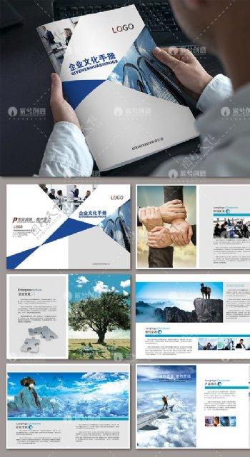 蓝色大气通用企业画册设计图片