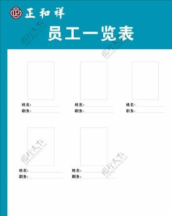 员工照片信息公示栏模板图片