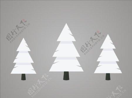 大树雪松矢量树冬季树图片