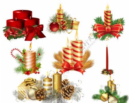圣诞节蜡烛素材图片