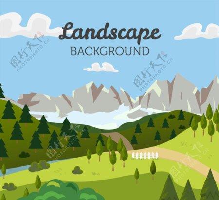 自然风景矢量素材图片