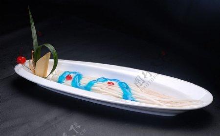 冷拼蓝莓山药图片