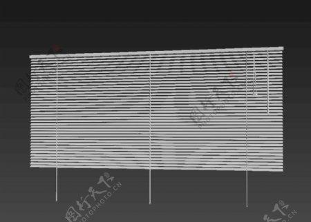 百叶窗帘3d模型图片