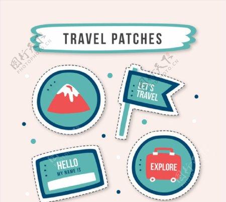 旅行元素补丁徽章图片