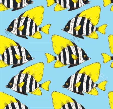 珊瑚鱼无缝背景图片