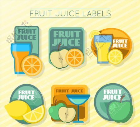 精美水果汁标签图片