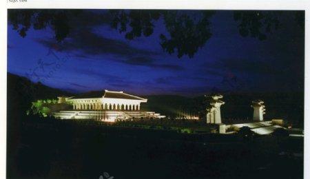 祭祀广场夜景图片