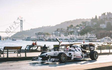 赛车跑车交通工具背景图片