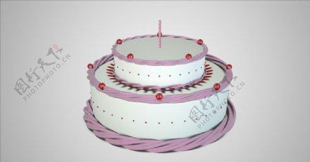 c4d生日蛋糕动画工程图片
