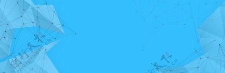 蓝色科技banner背景图片