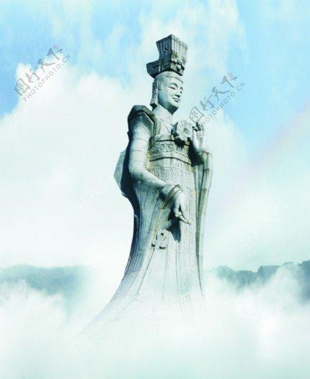 太姥娘娘雕塑图片