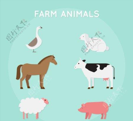 创意农场动物图片