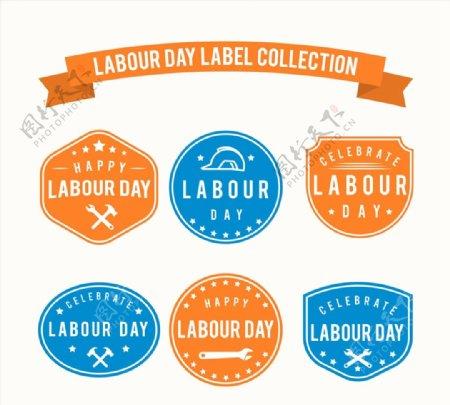 劳动节标签矢量图片