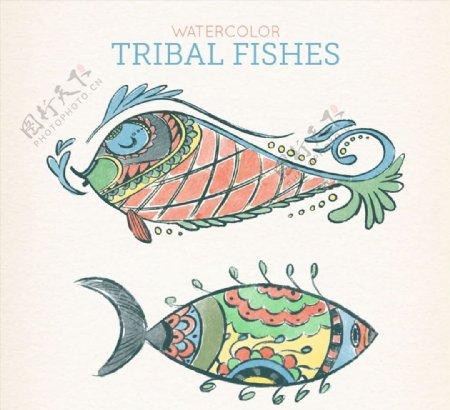 彩绘花纹鱼类图片