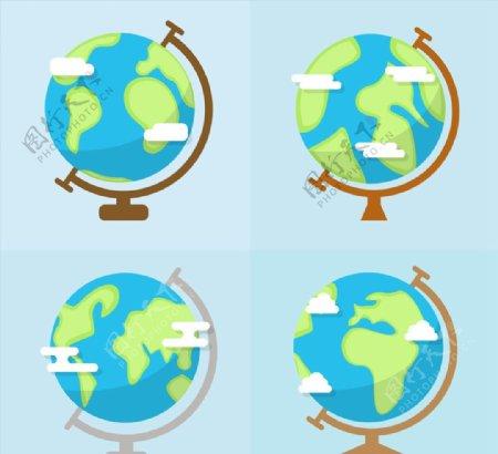 扁平化地球仪图片