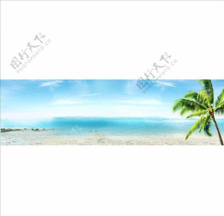 蓝色海洋背景图图片