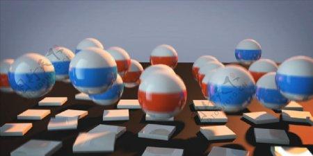 C4D模型动画跳动的球体图片
