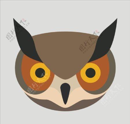 矢量猫头鹰图片