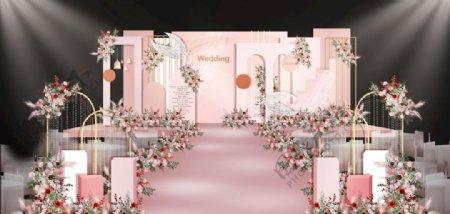 粉色浪漫婚礼图片