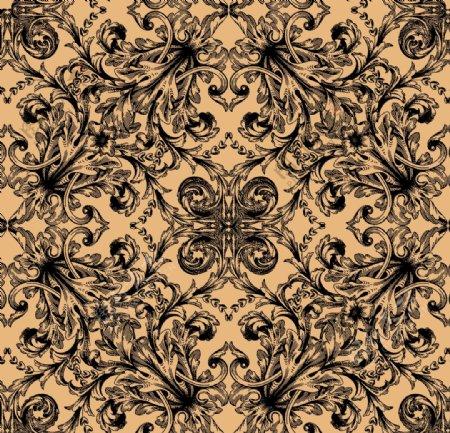 欧式古典花纹贴纸图片