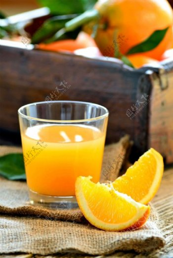 橙子橙汁图片