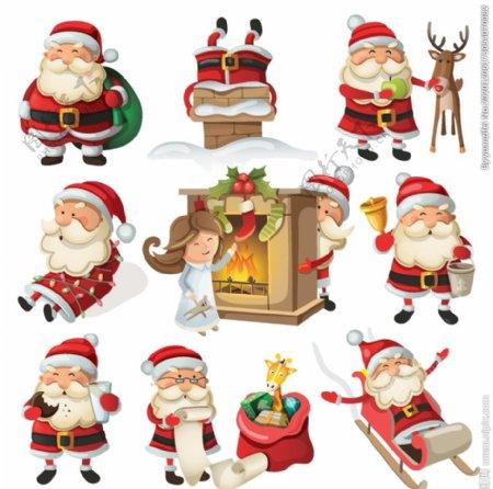 圣诞老人矢量素材图片
