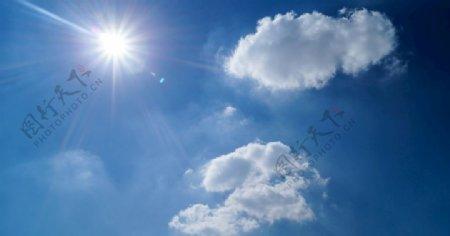 天空晴朗云多云的蓝色图片