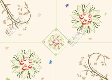 花纹底纹花型图片