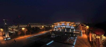 道教文化区广场夜景图片