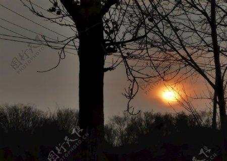 落日夕阳图片