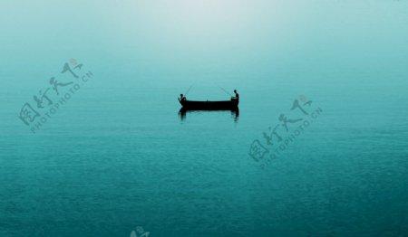 船渔钓鱼海洋图片