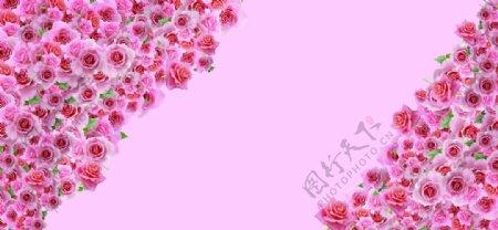 粉色浪漫婚礼背景图片