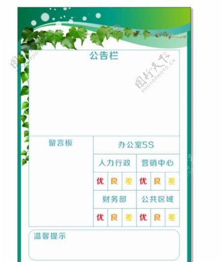 绿色公告图片