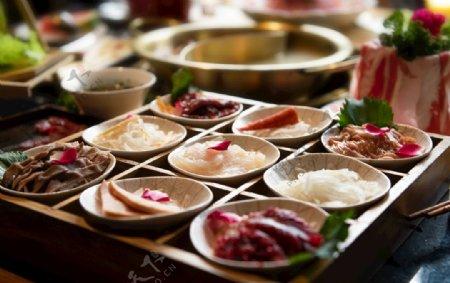 精致的火锅食材图片