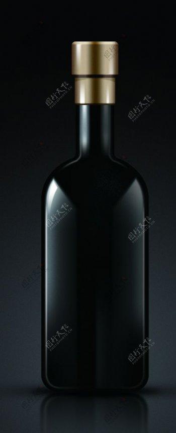 PS分层黑色玻璃瓶图片